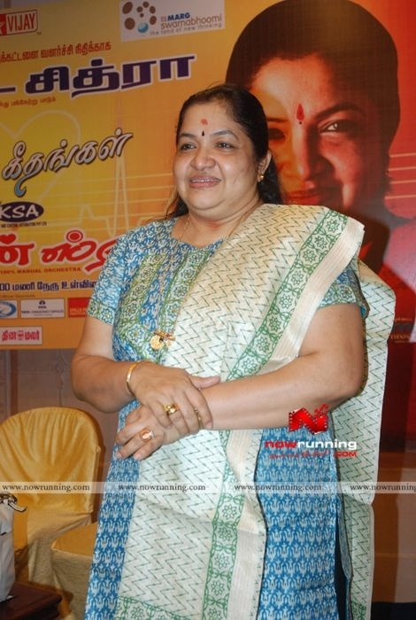 KS Chithra at Idhaya Geethangal Event. More at