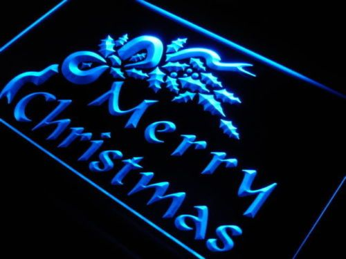 Merry Christmas Tree Decor Neon Light Sign