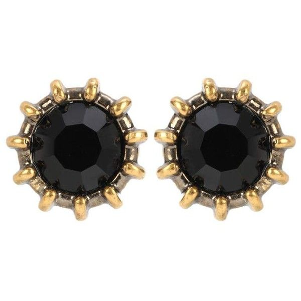 Gucci Crystal Earrings (£215) ❤ liked on Polyvore featuring jewelry, earrings, black, gucci, earrings jewellery, crystal jewelry, gucci jewellery and crystal jewellery