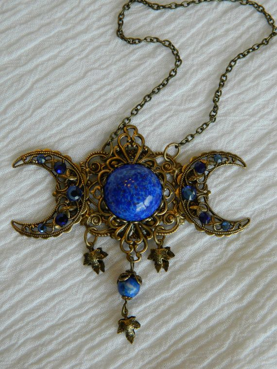 Isis Triple Moon Goddess necklace - SOLD!