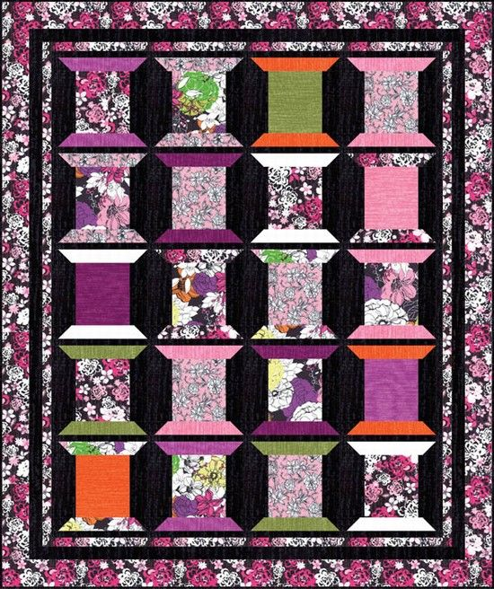 free pattern from hoffman fabrics modern blooms quilt top