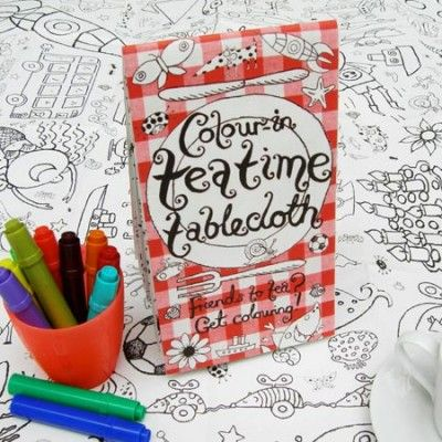 Eggnog-colour-in-tablecloth-teatime-main-544-544 - $12.95. Available from: http://pennyfarthingkids.com.au/product-category/kids-2/ #penny #farthing #kids #gifts