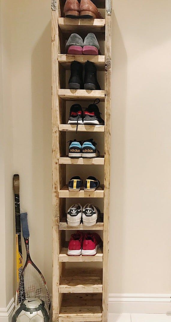 Tall Shoe Rack Etsy Diy Shoe Rack Wood Shoe Rack Pallet Shoe Rack