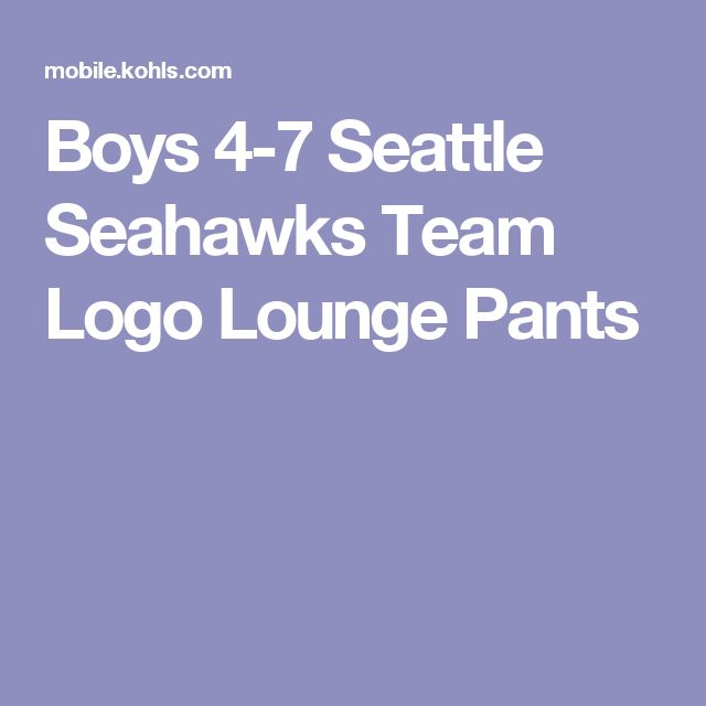 Boys 4-7 Seattle Seahawks Team Logo Lounge Pants