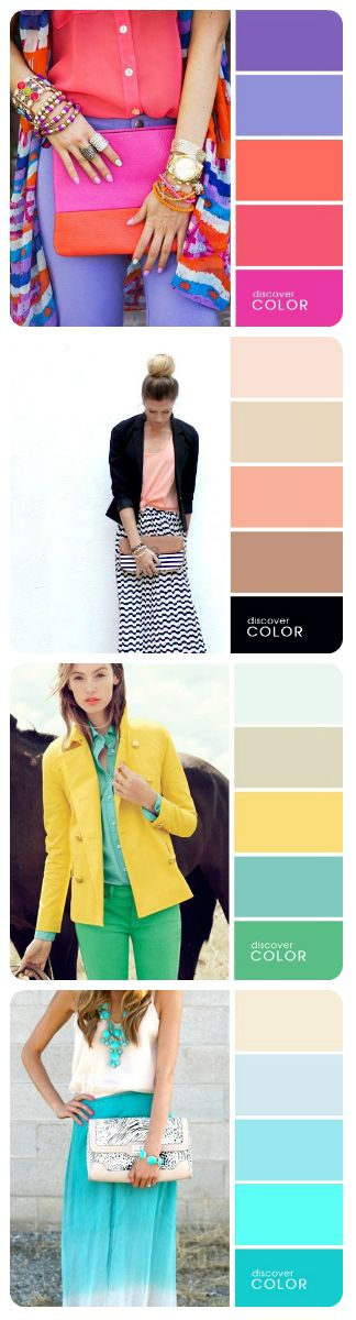 12 PERFECT COLOR COMBINATIONS FOR YOUR LOOK…