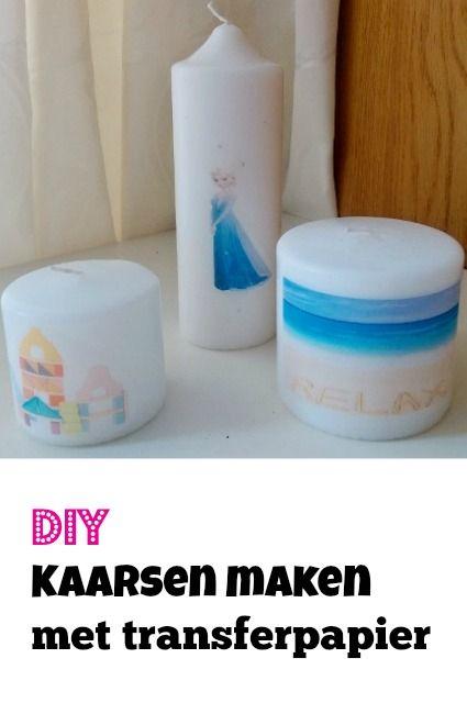 DIY: Zelf kaarsen maken met transferpapier - Mamaliefde.nl