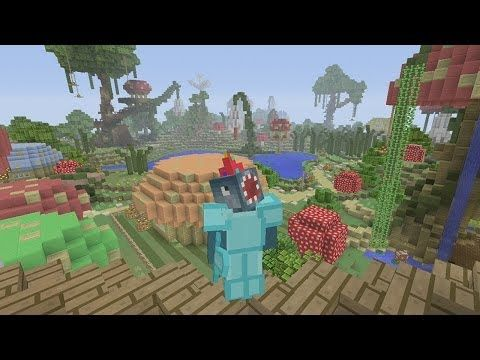 Watch this Stampy and Squid video. Today they're on a map called 'Enchanted Kingdom'...