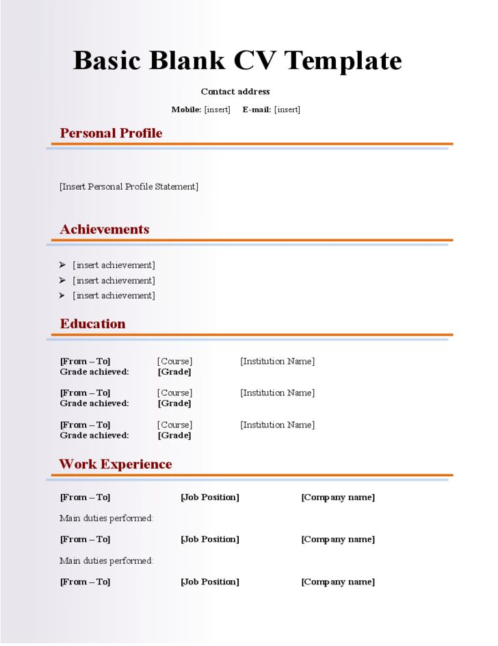 25 best Resume Genius Templates (Download) images on Pinterest - blank resume template word