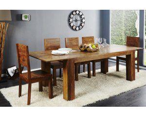 Drewniany stółrozkładany 200-280x100x76 cm - i16911