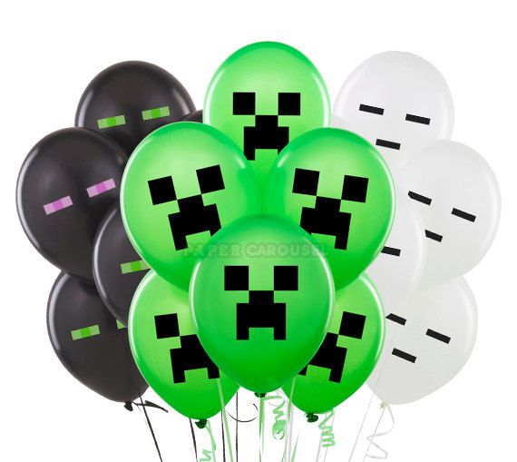 Hey, I found this really awesome Etsy listing at https://www.etsy.com/listing/194348347/minecraft-balloons-20pcs-minecraft-party