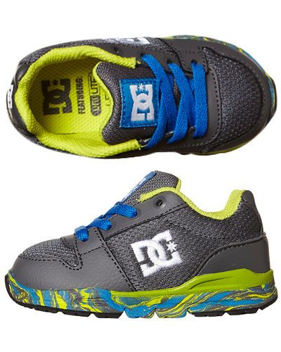 SURFSTITCH - FOOTWEAR - TODDLERS FOOTWEAR - TODDLER BOYS - DC SHOES TOTS ALIAS LITE SNEAKER - GREY WHITE