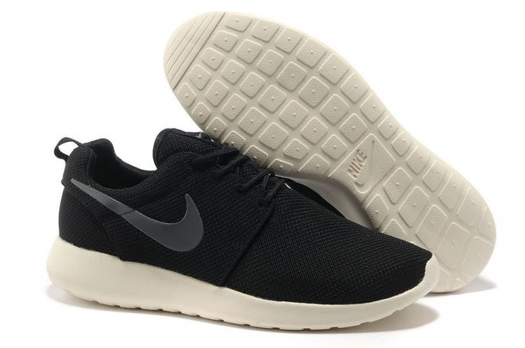 Nike Roshe Run Womens Mens Coal Black Charcoal Mesh Trainers
