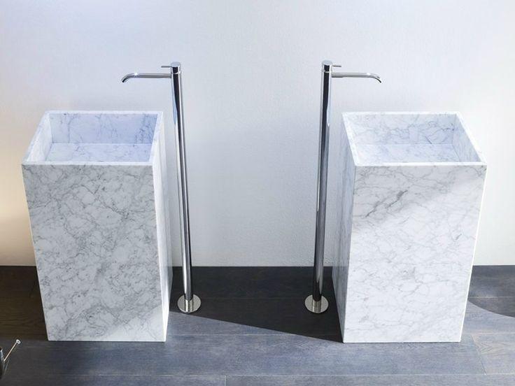 Lavabo de pie de mármol de Carrara Colección Unico by Rexa Design | diseño Imago Design