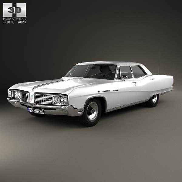 Buick Electric Car: Buick Electra 225 4-door Hardtop 1968 3D Model