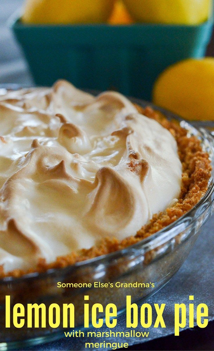 Lemon Ice Box Pie with Marshmallow Meringue - Lemon Pie Recipe - Ice Box Pie - Lemon Cream Pie - Marshmallow Meringue - The Gifted Gabber - Grandmother's recipes - summer pie recipes - tropical pie recipes - tangy pie recipes