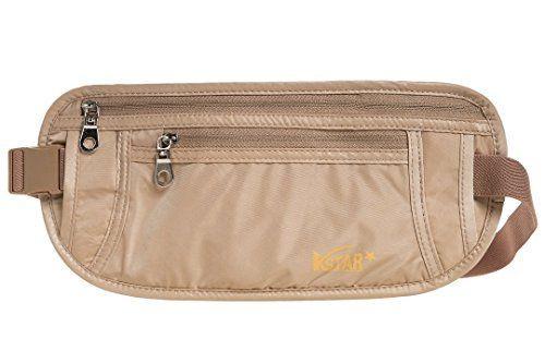 KSTAR Hidden Money Belt RFID Safe Travel Waist Pack Pouch for Men  Women Khaki * Be sure to check out this awesome product.