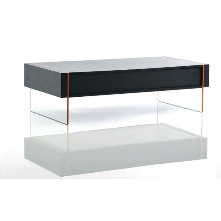 VIG Furniture VGHB167D Modrest Vision Modern Floating Coffee Table In Black Oak