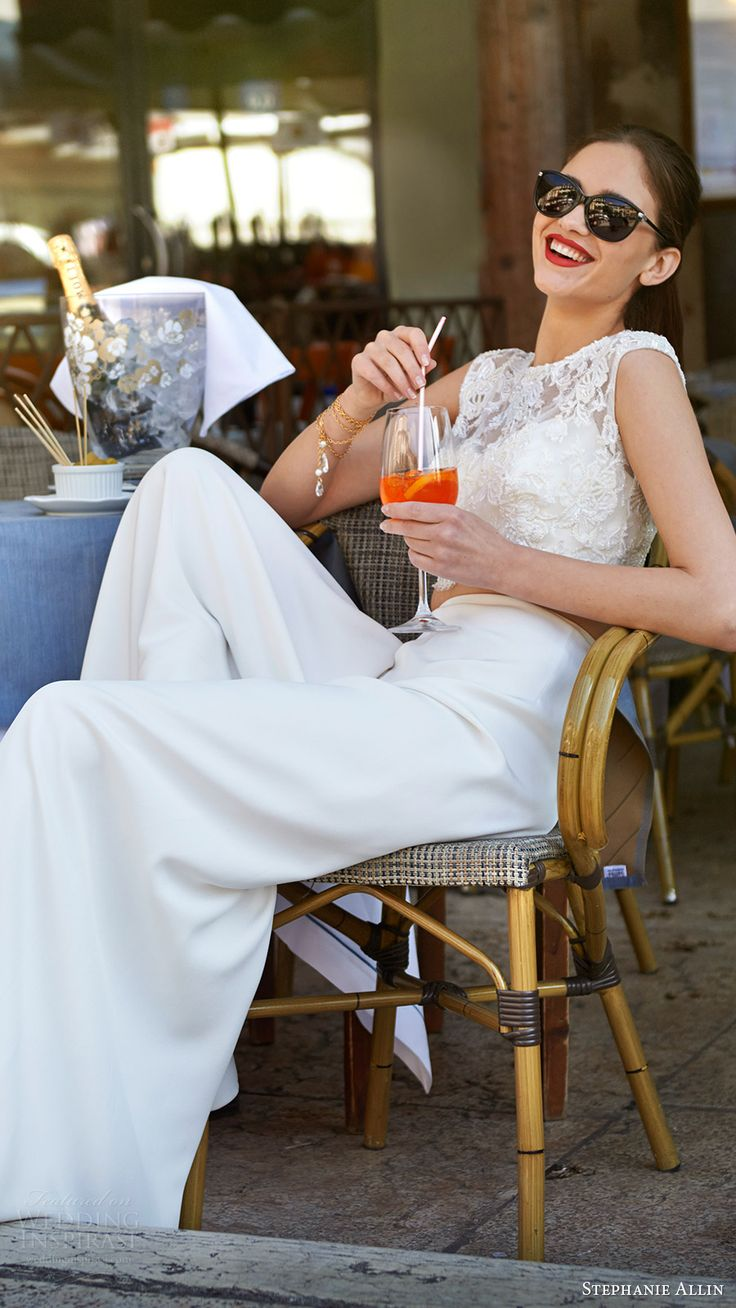 stephanie allin bridal 2017 pants wedding dress (garda trousers giovanna shrug bralet) mv