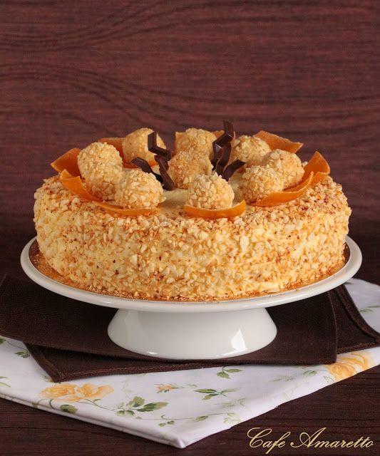 Tort migdałowo-pomarańczowy z kremem ryżowym