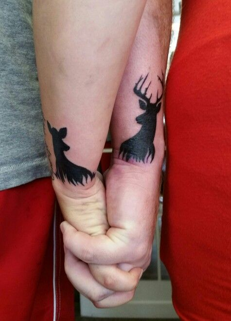 Couple tattoo Deer