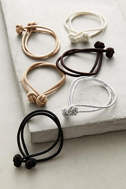 Knotted Hair Ties - anthropologie.com