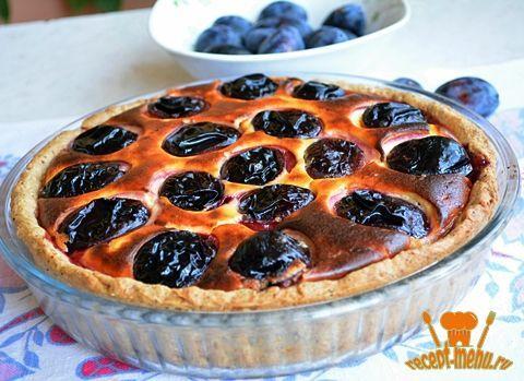 Пирог со сливами и творогом по рецепту от Юлии Высоцкой. Творожный пирог со сливами.