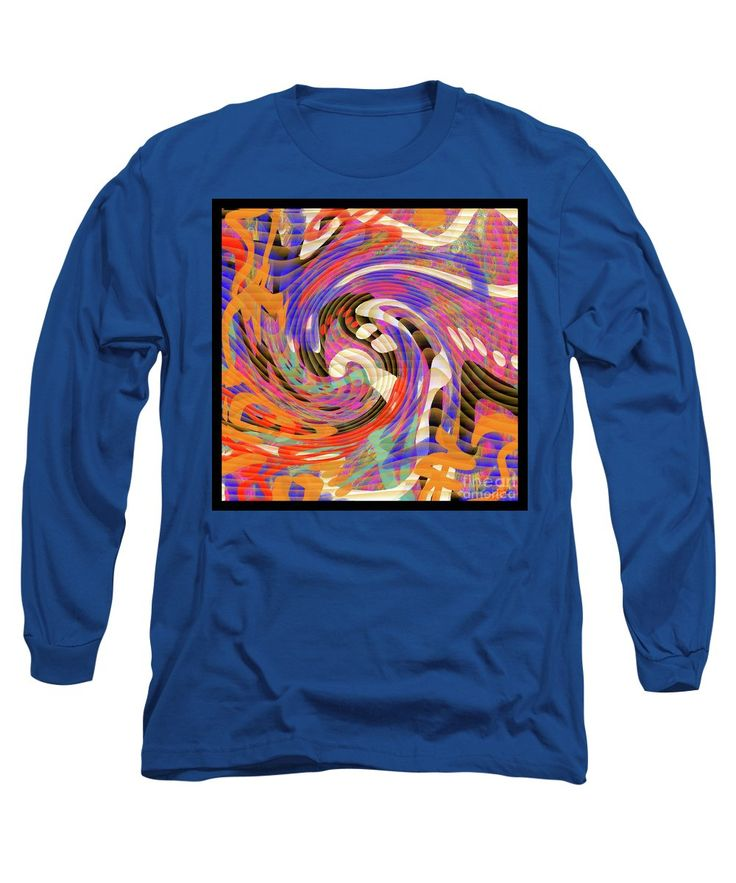 Digital Doodle Long Sleeve T-Shirt featuring the painting Pixelated Pretty by Expressionistart studio Priscilla Batzell