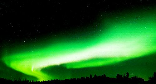 Green Aurora Borealis. Or the Lifestream, take your pick.