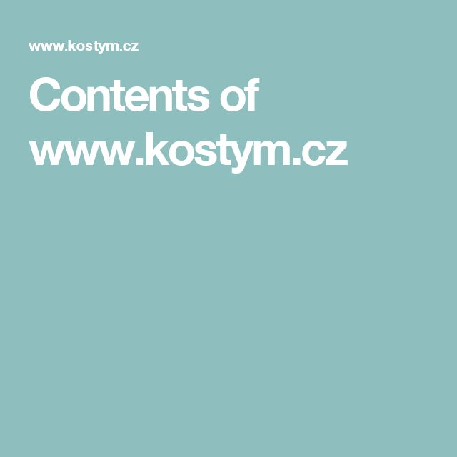 Contents of www.kostym.cz