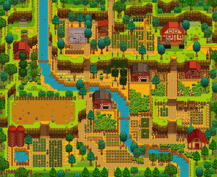 What's Your Preferred Farm? I Can't Decide What To Use In New Game : StardewValley