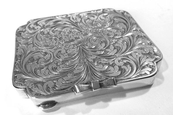 Porta cipria argento