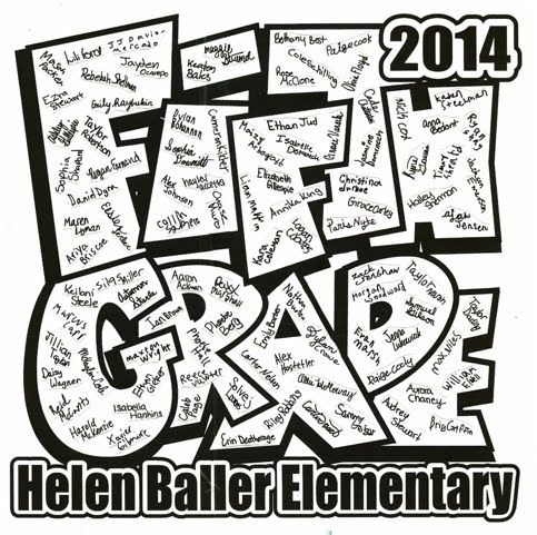 5th grade tshirts are ready and being ordered! - Helen Baller PTA
