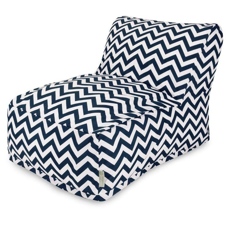 Buy Majestic Home 85907220398 Navy Chevron Bean Bag Chair
