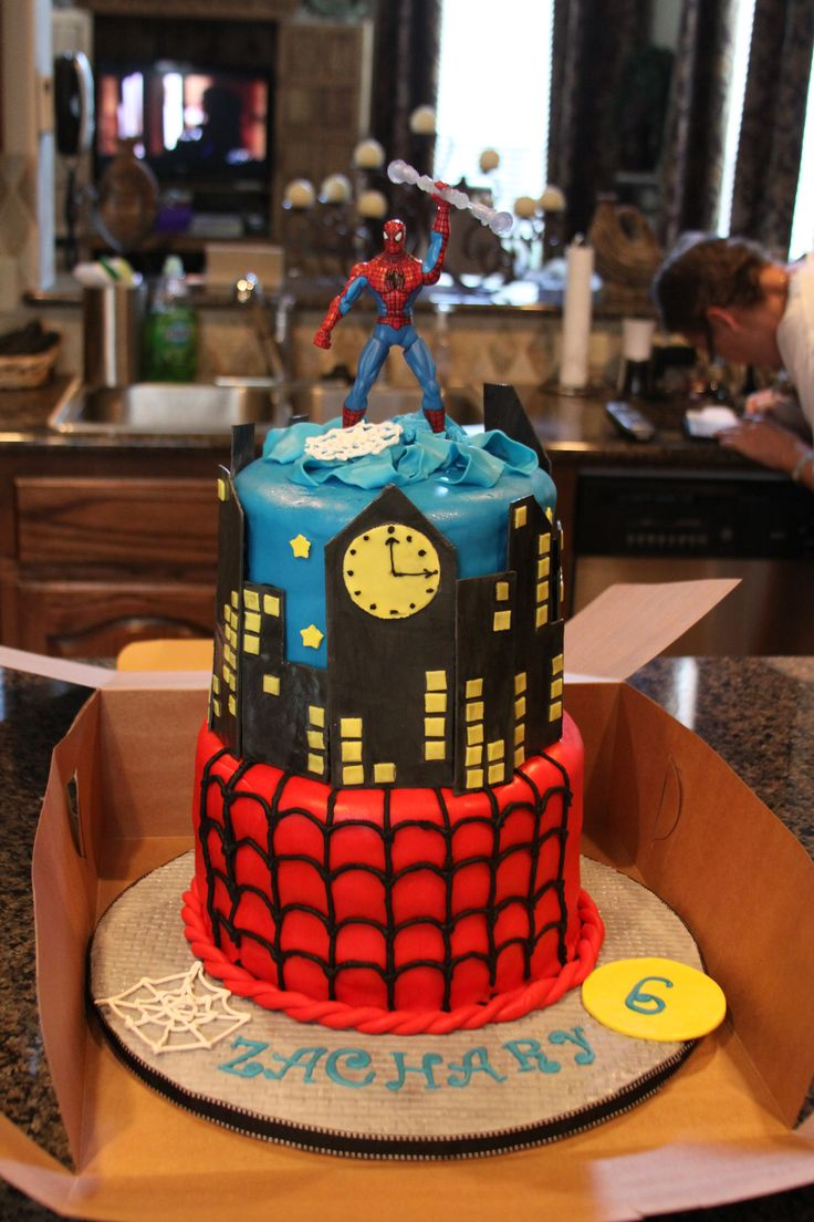 spiderman birthday cake cake for a sweet 6 year boy cake 7615