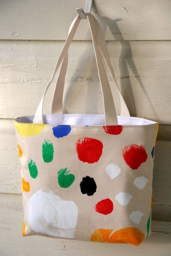 Artist Palette Fully Insulated Lunch Tote  Eco by cottontopquilts
