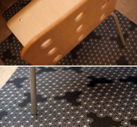 Great ideas for jazzing up your office chairmat.