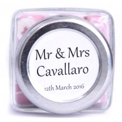 stickersglass jar wedding bomboniere ribbon table setting favors thank you give away personalised candy amazing unique different unusual best selling favourite cool cute beautiful www.designercandy.com.au