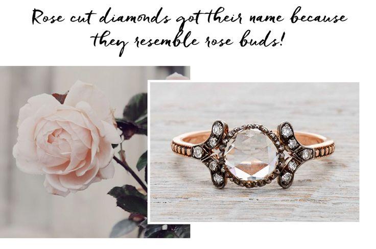VICTORIAN ESTILOS Y AJUSTES anillo de compromiso  Configuraciones y estilos de típicos anillos de compromiso victorianas son clúster, bisel, botón de oro, y talladas ajustes medio aro. El oro y esmalte negro eran más populares.  Cortes de diamante POPULARES USADOS EN ANILLOS VICTORIAN  Cortes de diamantes que se encuentran en la joyería de este tiempo son los diamantes rosas cortadas , viejos diamantes talla mina , viejos diamantes de corte europeo