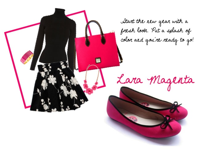 Shocking color for office wear? Why not? Wondershoe's Lara Magenta will brighten up your days (and your monochromatic work clothes!) :D