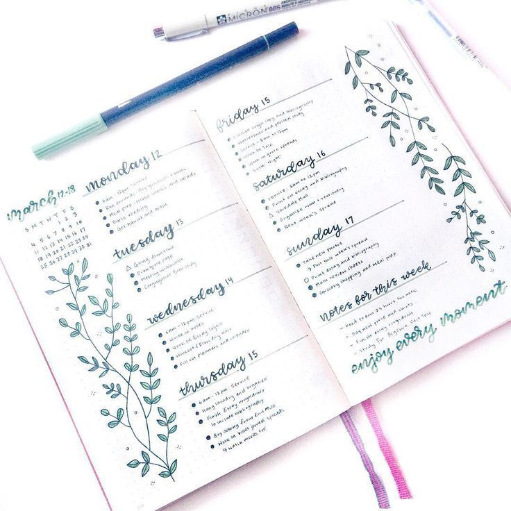 21 Bullet Journal Weekly spreads that are worth copying – #Bullet #Copyin …