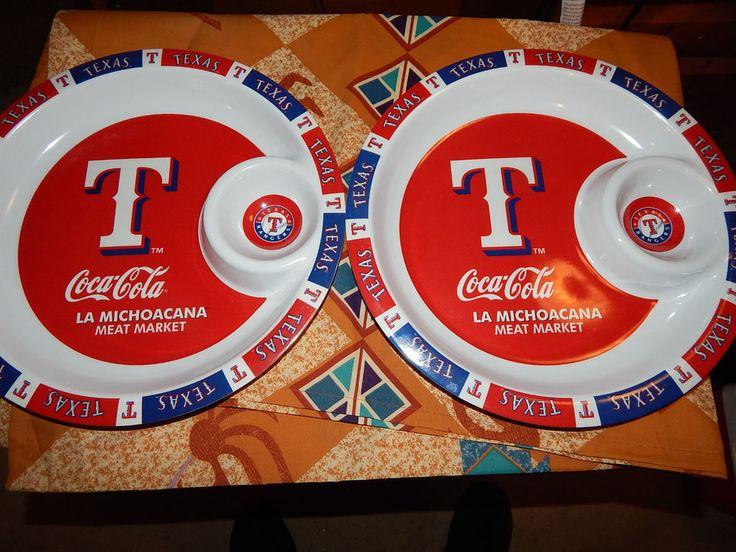 2 Texas Rangers Baseball - Fiesta Serving Platters - Coca-Cola & La Michoacana   | eBay