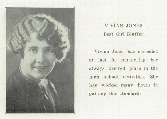 #HappyBirthday Vivian Vance, Vivian Jones, (July 26, 1909 - August 17, 1979) - click to view her 1926 Independence High School #yearbook! #VivianVance #ILoveLucy #EthelMertz #HighSchool