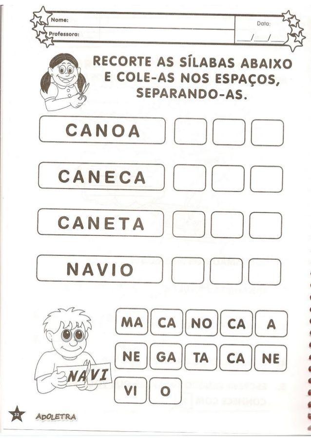 Colecao Adoletra Volume 03 Atividades De Alfabetizacao Atividades De Silabas Alfabetizacao
