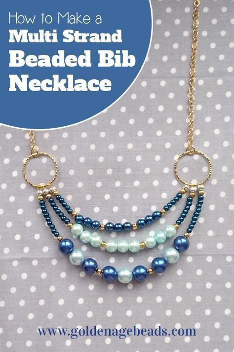 In this tutorial, we'll show you how to make a three strand beaded necklace that's versatile enough to be worn with any outfit! This project is great for beginners as there are just a few basic… #howtomakejewelryforbeginners