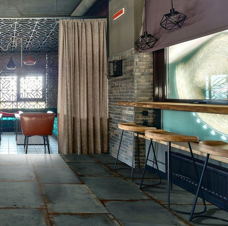 amazing ceramic tile ideas for cafes restaurants oxido glazed porcelain 45x90 cm