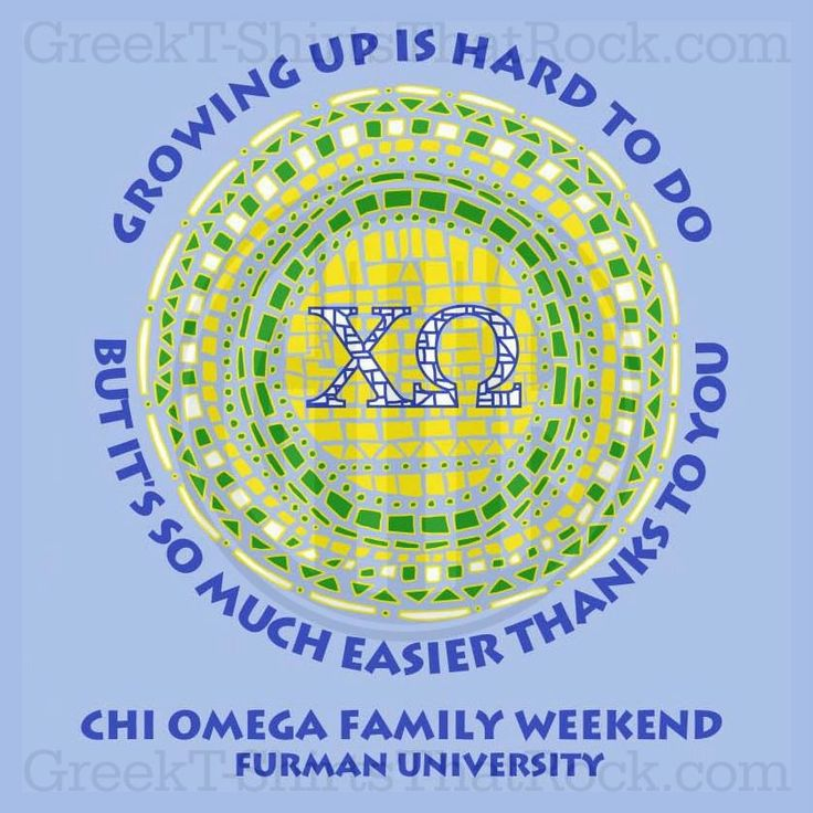 Chi Omega Family Weekend!  Buy all you Sorority and Fraternity apparel with GREEKTSHIRTSTHATROCK today 800-644-3066.