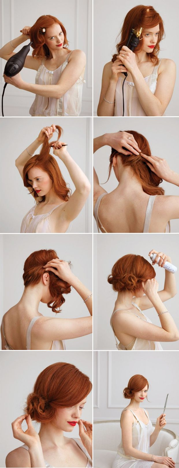 DIY modern side chignon wedding hairstyle ideas