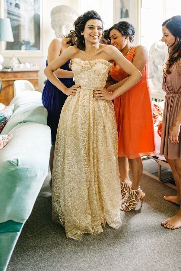 20 gold wedding dresses inspired by Jessica Simpson - Wedding Party