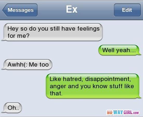 Ex Boyfriend Text Message Fail - NoWayGirl