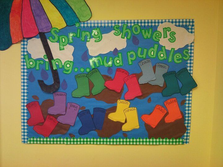 Spring door or bulletin board idea for preschool..